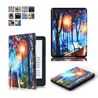 Luxury Picture Print Flip Leather Case Cover For New Kindle 2016 8th Generation Fundas For Amazon