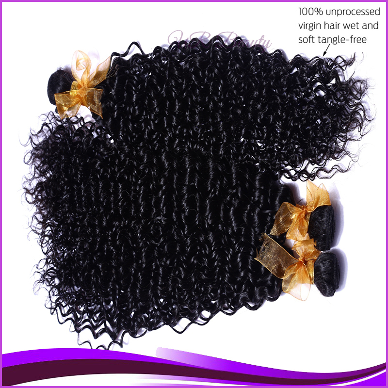 Armenian Curly Malasian Hair Weave Natural Black 4 Pcs Lot Short