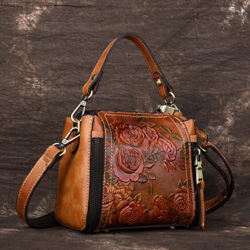 2018 New High Quality Embossed Women Cross Body Tote Handbag Luxury Flower Female Messenger Shoulder Bag Genuine Leather Bag все цены