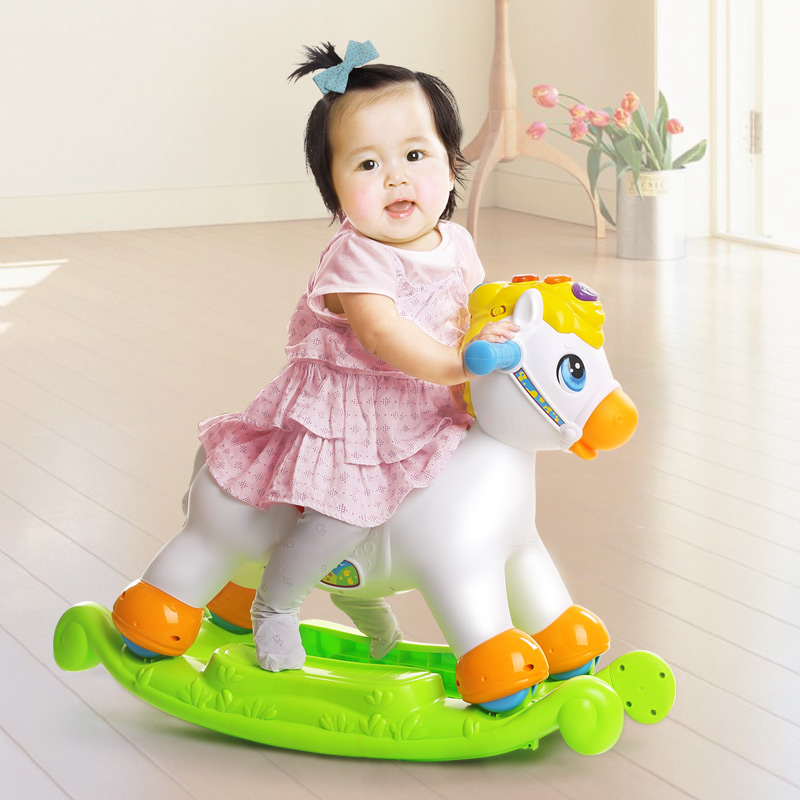 2017 New HUILE TOYS 987 Extra Thickness Plastic Large Rocking Jumping Horse Child Inflatable Horse Ride Baby Fitness Sports Toy huile toys 3108 baby toys traveling picnic cooking suitcase toy included stove utensils plates toy meal bacon and eggs