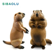 Cute Simulation Groundhog Marmot figurine Animal model home decor miniature fairy garden decoration accessories modern statue