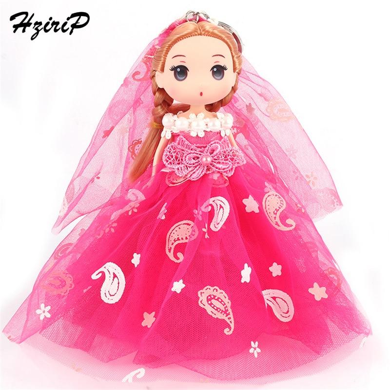 HziriP New 4 Layer Doll Key Chain Fashion Wedding Party Dress Princess Pendant Pretend Play Dolls Toys for Birthday Girls Gifts