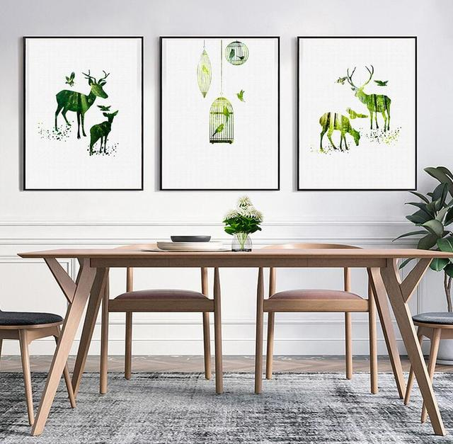 Nordic Canvas Prints Wall Art Pictures Home Decor HD Quality Work Paintings For Kids Room