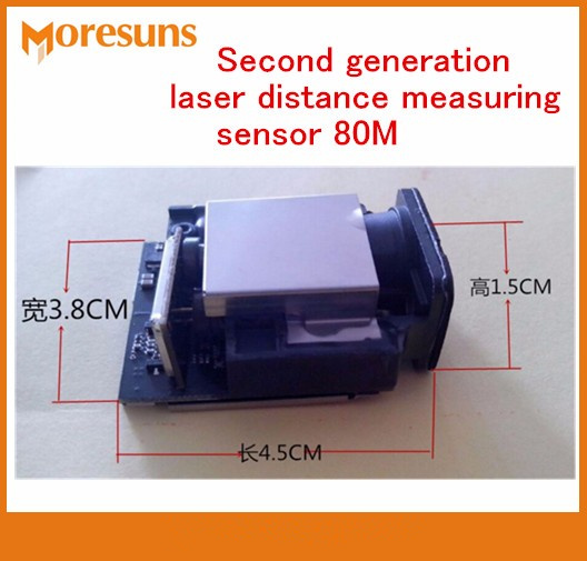 Fast Free Ship Good Second Generation Laser Distance Measuring Sensor 80M+-1mm Max Frequency 20HZ Laser Ranging Sensor Modules