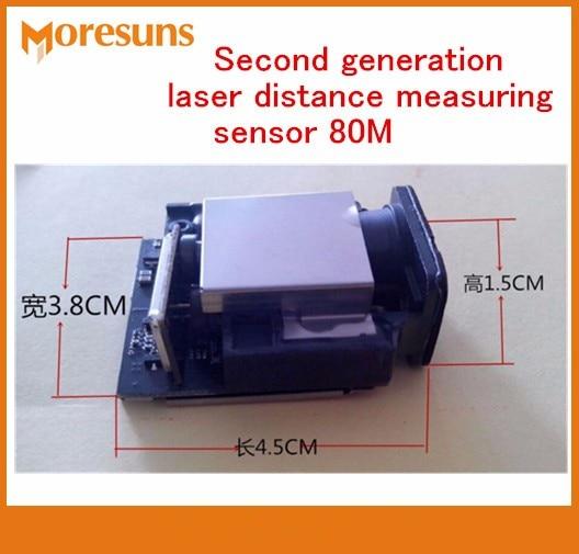 Fast Free Ship Good Second Generation laser Distance Measuring Sensor 80M+-1mm Max frequency 20HZ Laser Ranging Sensor Modules