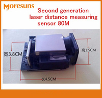 Fast Free Ship Good Second Generation laser Distance Measuring Sensor 80M+ 1mm Max frequency 20HZ Laser Ranging Sensor Modules