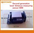 Rápido Navio Livre Boa Segunda Geração Laser Distância Sensor De Medição 80 M -1mm Freqüência Máxima 20 Hz Laser Variando Módulos Do Sensor