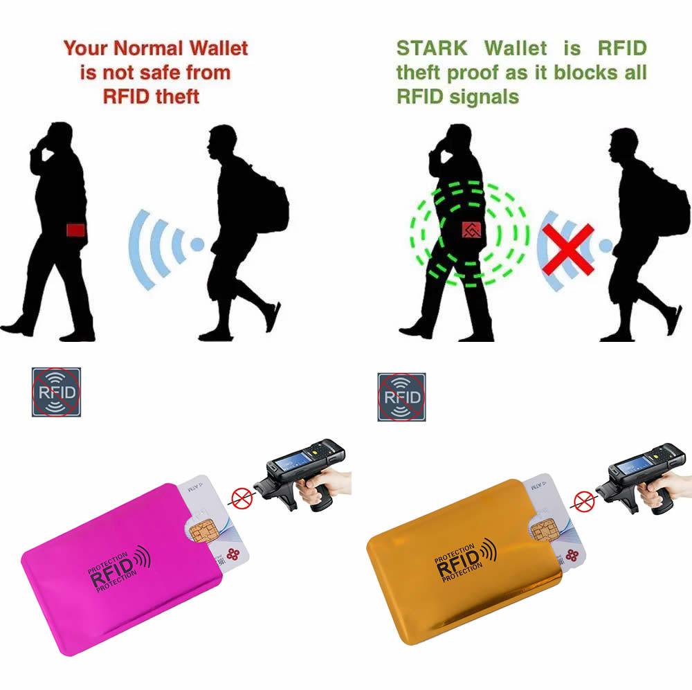 5pcs Anti Rfid Blocking Reader Lock Bank Card Holder ID Card Bank Card Case