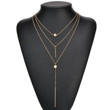 fashion sexy nightclub 3 Layers gold color chain tassel Bohemia ethnic long pendant charm Chokers Necklace women