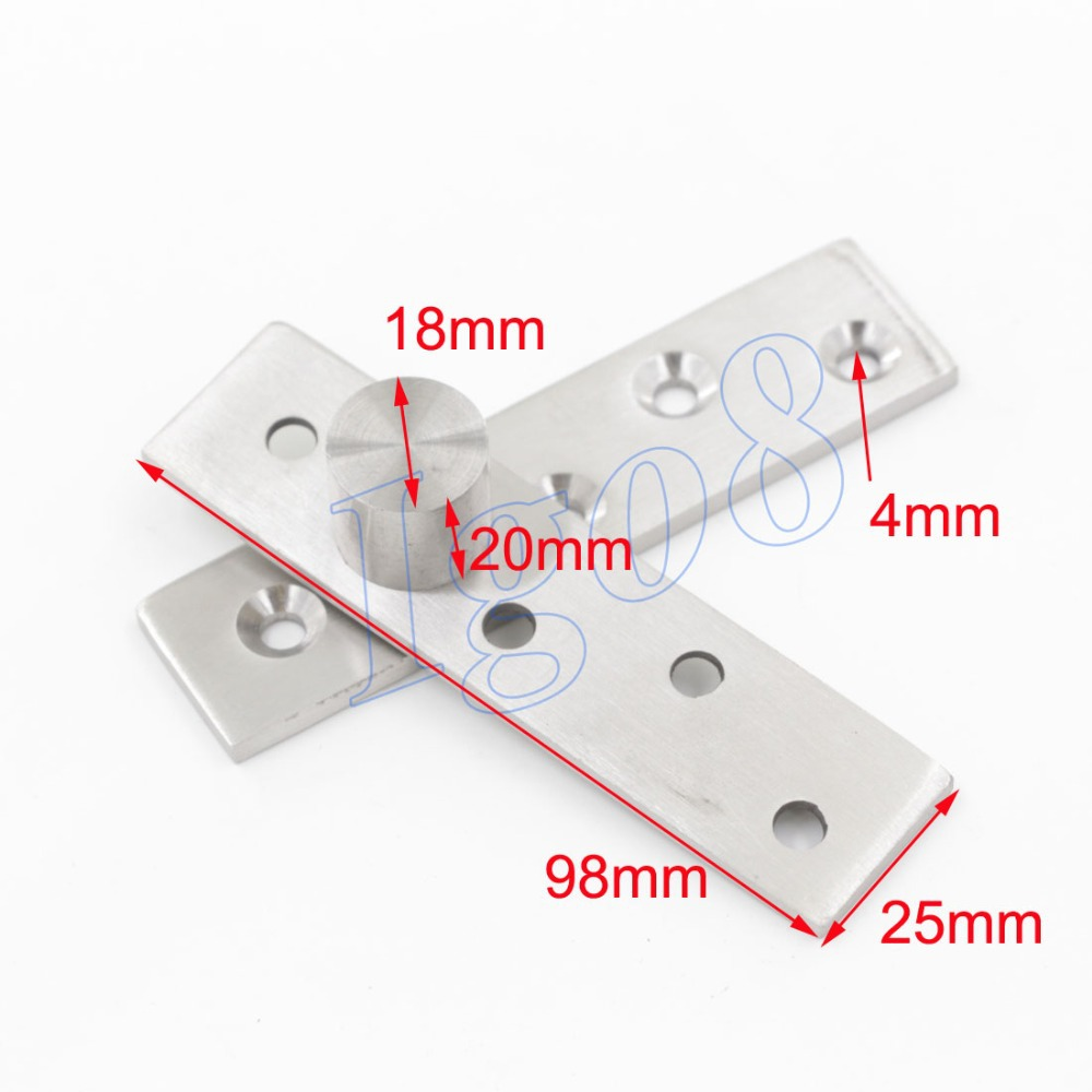 Great Sales 360 Degree 98mm x 25mm Door Pivot Hinges 2PCS 2pcs set stainless steel 90 degree self closing cabinet closet door hinges home roomfurniture hardware accessories supply