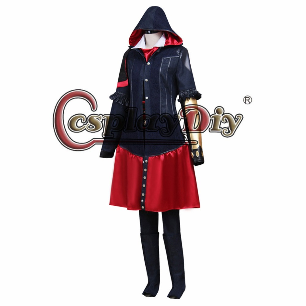 Cosplaydiy Game Role Syndicate Evie Frye Cosplay Costume Adult Women Halloween Carnival Cosplay Outfit Custom Made