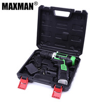 MAXMAN 12VDU 12V DC New Design Household DIY Lithium Ion Battery Cordless Drill Driver Power Drill