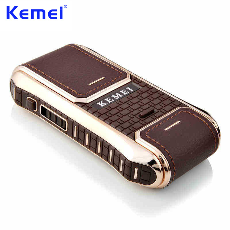 KEMEI Mini Portable Rechargeable Electric Shaver for Men Face Care Hair Trimmer Hair Removal Beard Trimmer Shaving Razor BT-094 kemei men s electric shaver cordless rechargeable reciprocating razor wet and dry use beard trimmer men s face care tool km 2016