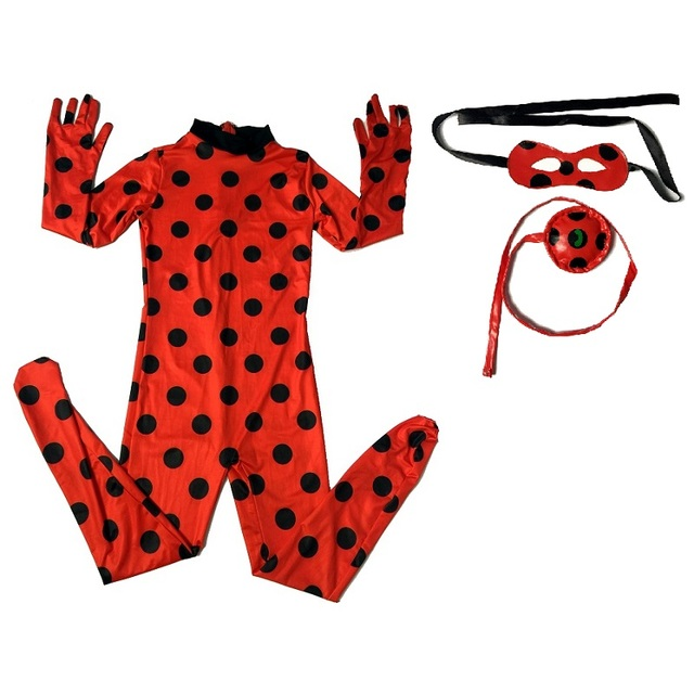fantasia spandex ladybug miraculous costume kids cosplay party bag toddler girls children child kid lady bug halloween costumes