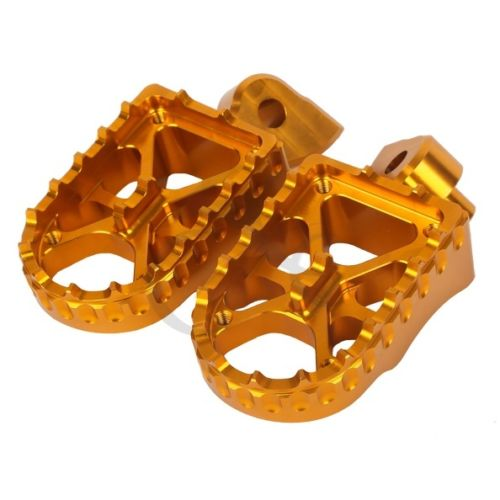 Gold Billet CNC Footpeg Footrests For Yamaha YZF 250 YZ 250F 2001-2013 02 04 06 Motorcycle