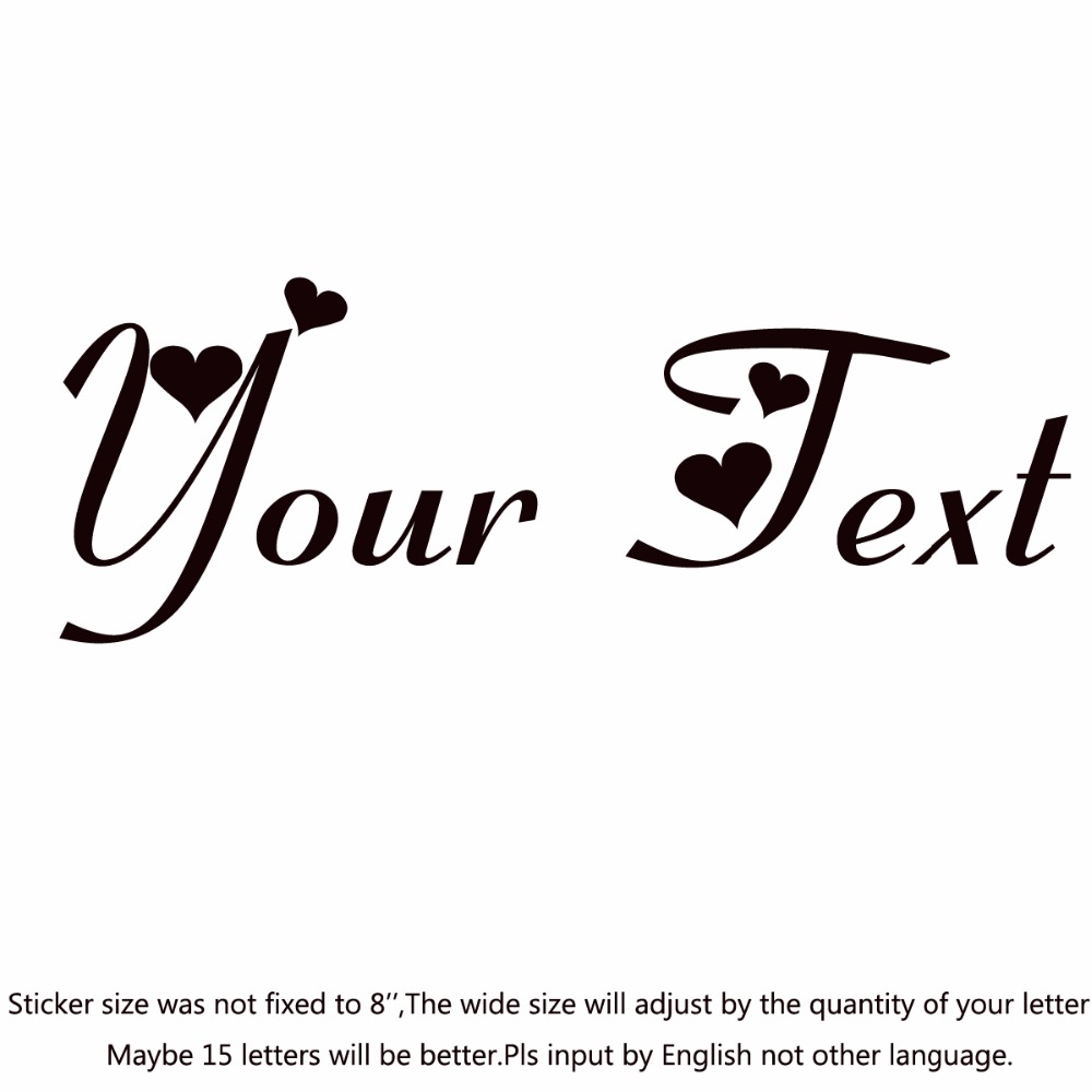 your text vinyl decal sticker car window bumper custom 7 personalized lettering fiolex girls