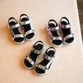 Muchachas del verano Sandalias de cuero 2017 Sandalias Niños Sandalias Ccasual kinder Chaussures Filles Enfants Niños Calzado de Playa Zapatos de Oro