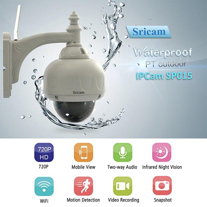 Фотография SRICAM SP015 Waterproof HD IP Camera Indoor Outdoor Security Camera Wireless Wifi Surveillance Camera Wi-fi CCTV Infrared Camera
