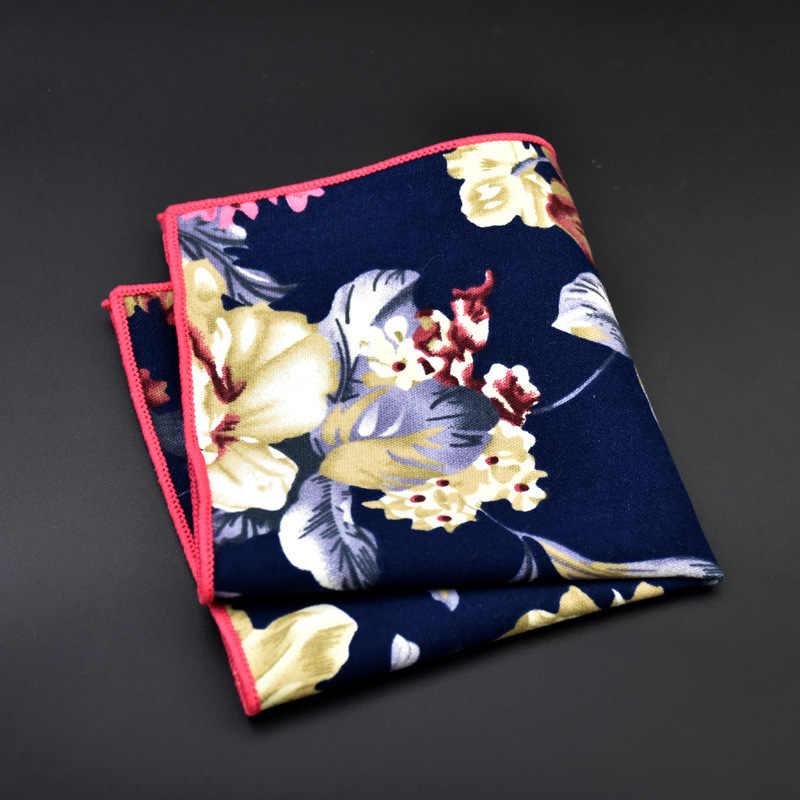 Мужские напечатанные хлопковые платки цветочные и Пейсли карманные квадраты винтажные Ханки полотенце для бизнес-поездок Брошь маленький цветок из прозрачного хрусталя