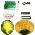 yellow DIY KIT 3d4X4X4 Light cubeeds LED Electronic DIY Kit