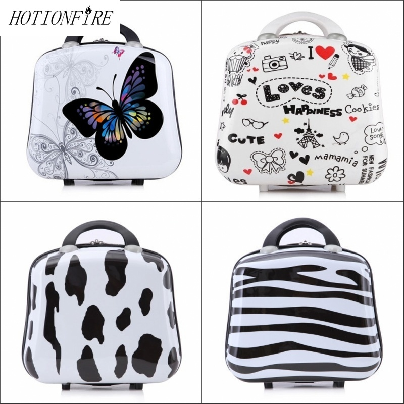 Women Bag Professional Fashion Light Large 13 14 Inch Mini Zipper Lady Business ABS Suitcase for