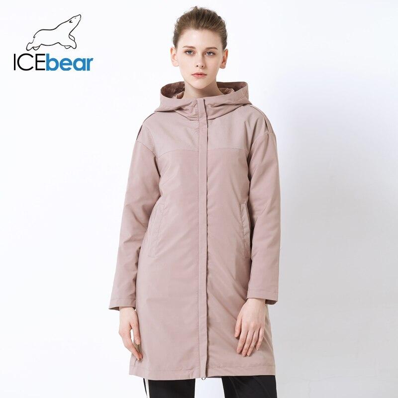 ICEbear 2019 otoño nuevas señoras rompevientos sueltos moda casual rompevientos alta calidad marca mujer GWF19001I-in Zanja from Ropa de mujer    2