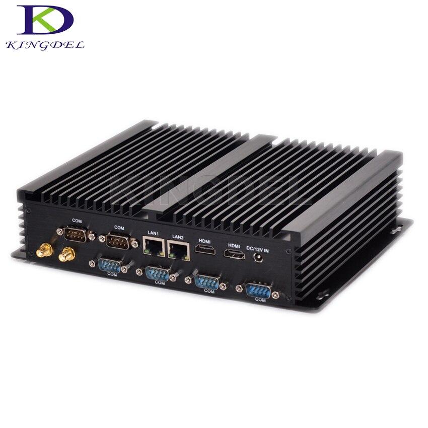 Fanless Barebone Mini PC Core I7 4500U I5 4200U Windows 10 Rugged ITX Case Embedded Industrial Computer 2 LAN HDMI 6 COM Nettop