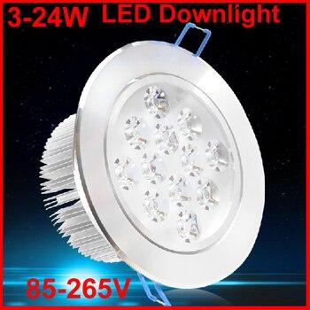 10pcs LED Downlight Spot Led Light 3W 5W 7W 110V 220V Led Lamp Led Lights For Home 4000K 3000K 6000K Red Green Blue Yellow