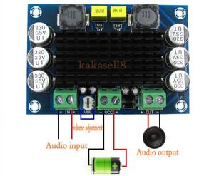 Image 1 - TPA3116 D2 TPA3116DA DC 12V 24V 100W Mono kanal dijital elektrikli ses yükseltici kartı