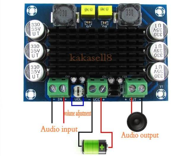 TPA3116 D2 TPA3116DA DC 12V 24V 100W Mono kanal dijital elektrikli ses yükseltici kartı