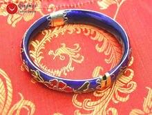 Женский браслет qingmos модный с ручной работой голубой гардеробной