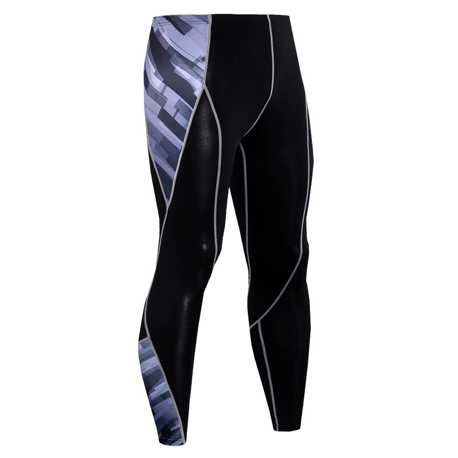 Hot 3D printing sports compression pants running men 39 s jogging pants tight leggings running gym fitness pants in Running Pants from Sports amp Entertainment