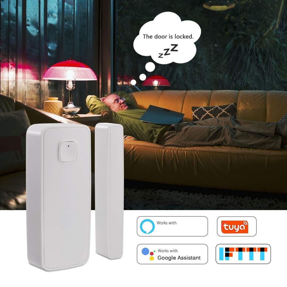 Wifi Alarm Systems Security Home Domotica Tuya Smart Life Door Window  Sensor Detector Google Home Alexa Smart Home Automation