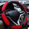 Stereoscopic 3D Design Sandwich Sport Type Car Steering Wheel Cover Anti-Slip Curves 38CM Covers Four Season Universal