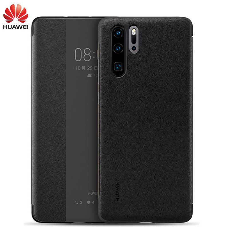 Huawei P30 Flip Case Cover Official Huawei P30 Pro case Smart View Window Luxury PU Leather Protective Wake up P30/P30pro case