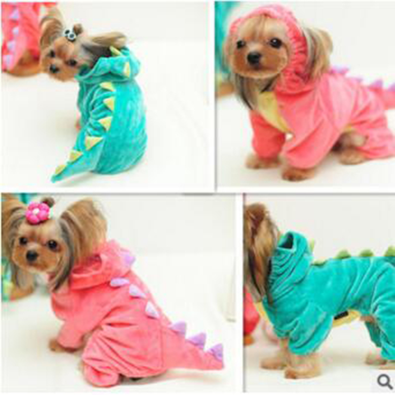 Objective 2016winter Dinosaur Dog Pet Halloween Costume Clothes Green Warm Coat Outfits For Small Yorkie Dogs Puppies Xs/sm/l/xl Dog Clothing & Shoes Home & Garden