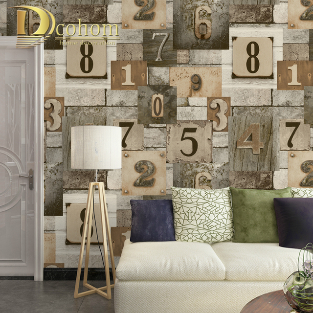 Dcohom Modern Vintage Wood Brick Wall Art Wallpaper For Bedroom Living Room  Sofa TV Walls Decor