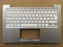 New UK White Keyboard For Asus X201 X201E White With Palmrest topcase C Cover Laptop Keyboard