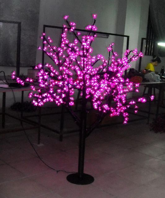 Free ship 864pcs LED Bulbs LED Cherry Blossom Tree Light Christmas New year holiday party Light 5ft Height Pink Home garden deco