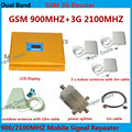 Полные комплекты для 3 номеров усилитель! Dual band GSM/WCDMA 900 мГц/2100 мГц 3 Г сотовый телефон мобильный телефон усилитель сигнала повторитель усилитель