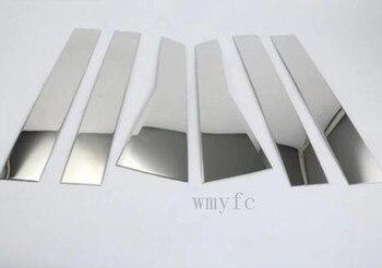 Car Styling Stainless Steel Window Trims Center Pillars B + C Pillar Covers 6Pcs Fit For Honda CRV CR-V 2017 2018