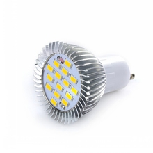 Lighting GU10 5W 350LM 15 LEDS SMD-5730 AC/85-265V Spotlight Light Socket  Casquillos De Bombillas  E17 Lamp Holder