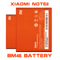 Bm45 venta caliente teléfono móvil de alta capacidad batería batería para xiaomi hongmi redmi note 2 bm45