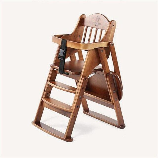Складной Стульчик деревянный Многофункциональный тип детское сиденье большой ограждение ребенка обеденный стул детский стульчик регулируется по высоте