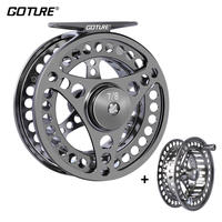Goture Fly Fishing Reel 3/4 5/6 7/8 9/10 2+1BB Max Drag 8kg Lightweight CNC machined Large Arbor Left/Right Fly Reel+Spare Spool