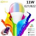 LED Bulb Lamps 11W E27 B22 Smart Light Bulb WiFi Voice Control RGB Energy Saving Dimming LED Bulb High Brightness Bombilla