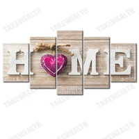 5pcs Full Square/Round Drill 5D DIY Diamond Painting Home Sweet Home Multi picture Combination 3D Embroidery Mosaic Home Decor