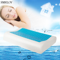 comfort Cool Gel Pillow Summer Ice cool Anti snore Memory Foam Orthopedic Sleep neck Fatigue Relief Pillow Home Beddings 50*30