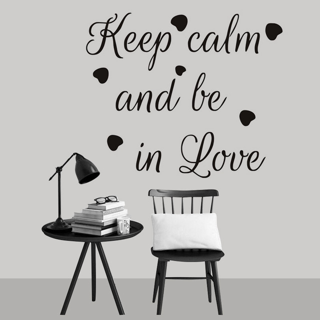 Keep Calm Quotes Wall Sticker Bedroom Living Room Family Warm Motivational Sayings Vinyl Decals