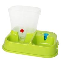 Behokic Automatic Auto Pet Dog Cat Food Water Fodder Feeding Drinking Bowl Feeder Green